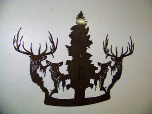Elk Steel Wall Display For Elk Hunt European Skull Antler