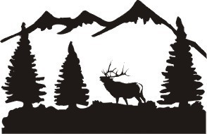 Mule Deer Buck And Does Scene Truck Window Tailgate Decal