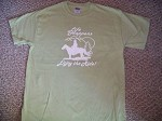 LIFE HAPPENS ENJOY THE RIDE Lrg Grn TShirt Horse saddle