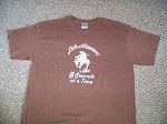 LIFE HAPPENS 8 SEC BRONC Brn T shirt L Saddle spurs