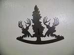 WHITETAIL DEER EUROPEAN MOUNT Steel trophy Hunt Oval Wall Display w/ bracket