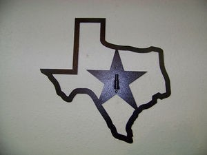 TEXAS STAR Plasma cut powder coated STEEL WALL DISPLAY european deer mount