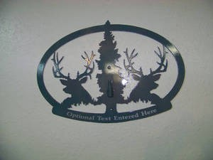 STEEL WALL DISPLAY ANY MOUNT DEER EUROPEAN PEDESTAL