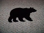 Steel BLACK BEAR Outdoor Yard art Powder coated ST