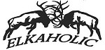 XLRG ELKAHOLIC FIGHTING ELK decal bow arrow blind hunt