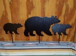 Steel BEAR FAMILY Outdoor Yard art bow arrow hunt