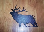 Steel ELK 6 point Outdoor Yard art Powder coated
