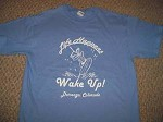 LIFE HAPPENS WAKE UP WAKEBOARD Boat Binding TShirt Lrge