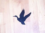 Steel FLYING MALLARD Outdoor Yard art Powder coated ST