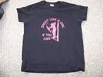 SHOOT LIKE A GIRL if you can LADIES BLACK TShirt Bow