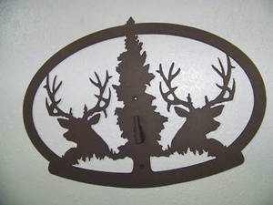 STEEL WALL DISPLAY ANY MOUNT ELK DEER EUROPEAN PEDESTAL