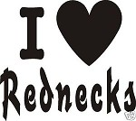 LOVE REDNECK COWBOY RODEO DECAL VINYL CAR STICKER