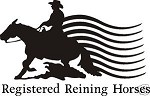 REGISTERED REINING HORSE COWBOY DECAL CAR OR WALL DECOR