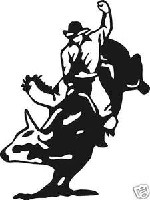BULL RIDER WESTERN DECAL STICKER ROPE SPURS SADDLE