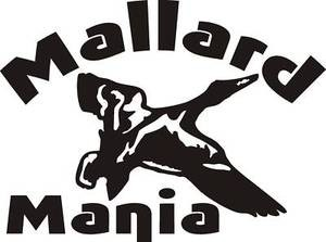 MALLARD MANIA Duck hunt decal call blind decoy