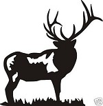 Standing Elk decal bow arrow blind deer hunt