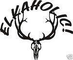ELKAHOLIC ELK SKULL decal bow arrow blind hunt