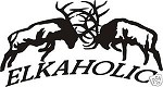 ELKAHOLIC FIGHTING ELK decal bow arrow blind hunt