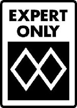 Ski Snowboard Sign MOST ADVANCED EXPERT ONLY warning run slope alumnum sign