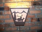 Laser Plasma Steel ANYWHERE SCONCE 6X6 ELK Rustic LAMP deer cabin decor hunt
