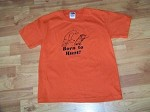 BORN TO HUNT YOUTH fun t shirt for deer elk bear hunter of the future 10-12 size