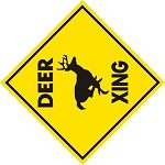 DEER XING ALUMINM SIGN WHITETAIL HUNT CALL BLIND STAND ANTLER