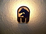Awsome Laser cut TEAL MARE FOAL NIGHT LIGHT Horse cabin house decor hunt blind