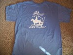 LIFE HAPPENS ENJOY THE RIDE XLg Blu TShirt Horse saddle rope DISCOUNTED SALE