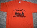 WE INTERUPT THIS MARRIAGE for Hunting Season funny deer elk hunt T Shirt Orange