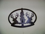 STEEL WALL DISPLAY Whitetail trophy Deer Oval for pedestal european mount