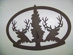 STEEL WALL DISPLAY Plasma Cut Powder Coated DEER EUROPEAN PEDESTAL MOUNT SALE
