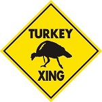TURKEY XING ALUM SIGN HUNT CALL BLIND STRUT