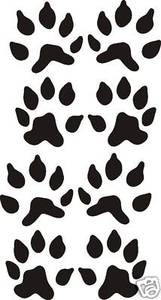Set of eight FISHER TRACKS decal design