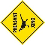 PHEASANT XING ALUM SIGN HUNT