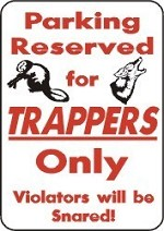 PARKING FOR TRAPPERS Snare blind trap fox, rabbit