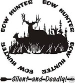 BOW HUNTER circle decal DEER hunt call blind arrow