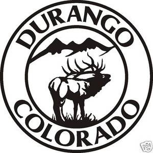 DURANGO COLORADO ELK Decal wall or window sticker