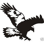 DIVING HAWK EAGLE Decal for wall or car window