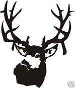 Large MULE DEER Decal Sticker deer hunt call blind