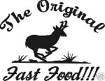 THE ORIGINAL FAST FOOD ANTELOPE hunt Decal sticker