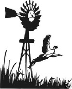 PHEASANT AT WINDMILL Hunting decal sticker