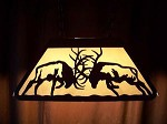 Awsome Laser cut Steel Fighting Elk Med Pool Table Light Lamp hunt cabin