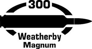 300 Weatherby Mag gun Rifle Ammunition Bullet exterior oval decal sticker car