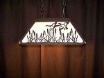Laser cut Steel Flying Ducks Med Office Desk Table Light Lamp rustic hunt cabin