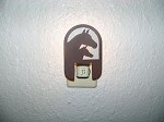 Awsome Laser cut COPPER MARE FOAL NIGHT LIGHT Horse cabin house decor blind