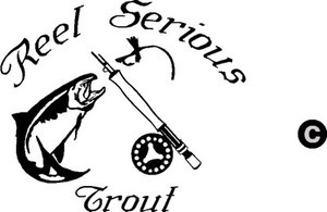 REEL SERIOUS Fly Rod TROUT fishing trip lure Car or Boat Decal /Sticker