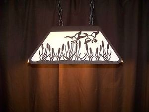 Awesome Laser cut Steel Ducks Med Pool Table Game Room Light Lamp hunt cabin
