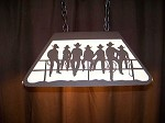 Laser cut Steel COWBOY KIDS Desk Office Game Room Light Lamp Rustic west decor