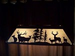 Awesome Laser cut Steel Elk and Mule Deer Lrg Pool Table Light Lamp hunt cabin
