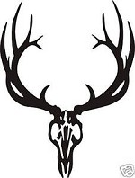 LARGE EUROPEAN ELK SKULL decal sticker bow arrow blind hunt antler